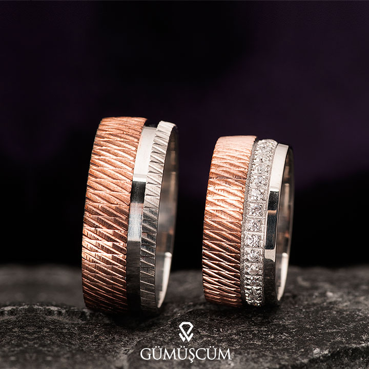 Karanfil Modeli Gümüş Alyans Çifti