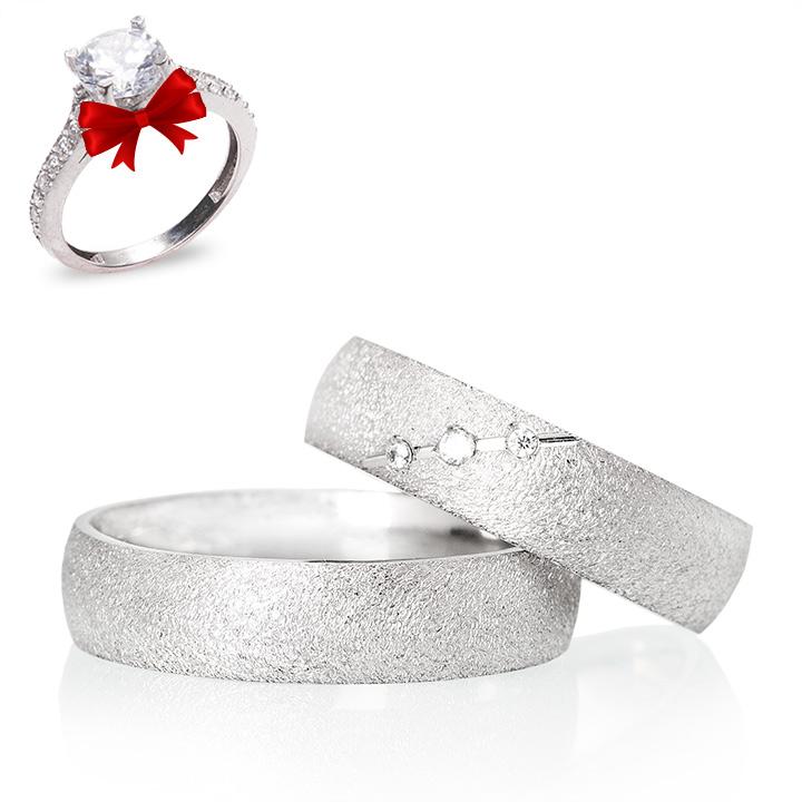 Kiraz Modeli Gümüş Alyans Çifti