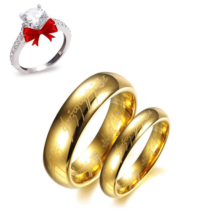 Yüzüklerin Efendisi Lord Of The Rings Gümüş Alyans Çifti