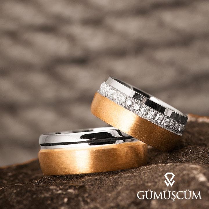 Gonca Modeli Gümüş Alyans Çifti