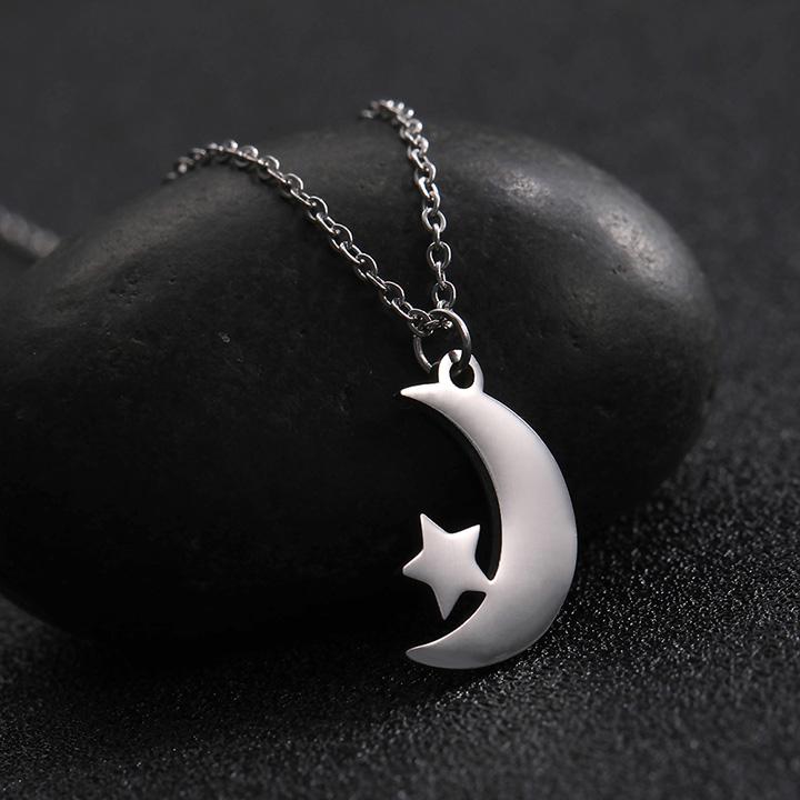 Ay Yıldız Tasarım Gümüş Kolye