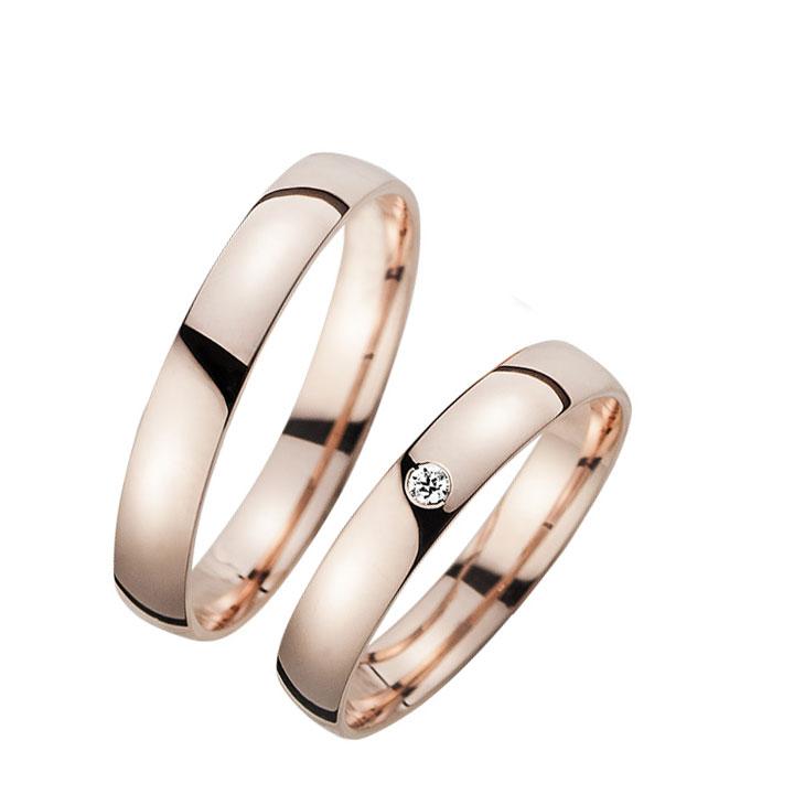 Roz Tek Taş Bay Gümüş Alyans Söz Yüzüğü
