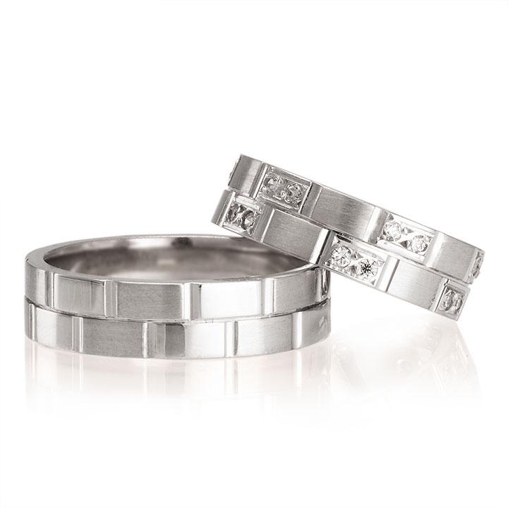Zarif Beyaz Modeli Gümüş Alyans Bayan Söz Yüzüğü