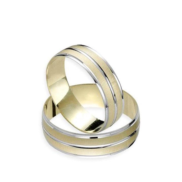 LoveMe Gümüş Alyans Modeli Altın Kaplama Bayan Nişan Yüzüğü