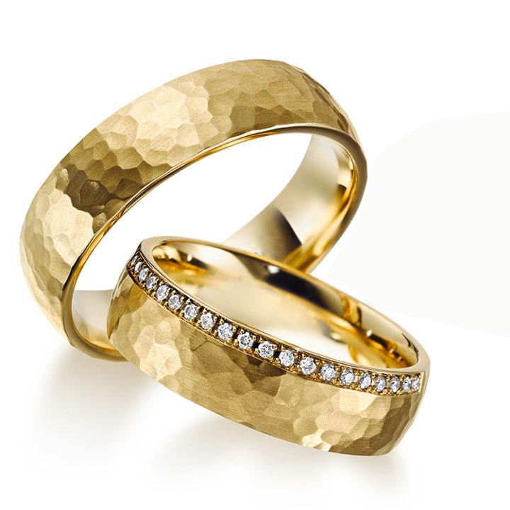 Honey Modeli Taşlı Altın Kaplama Bay Gümüş Alyans