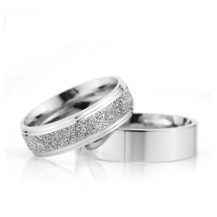 Bombeli Çizgili 6mm Bayan Gümüş Alyans Nişan ve Söz Yüzüğü