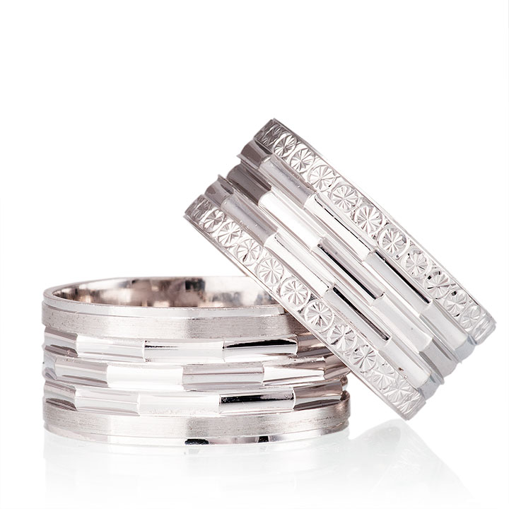 Petunya Nişan Yüzüğü Bay Gümüş Alyans