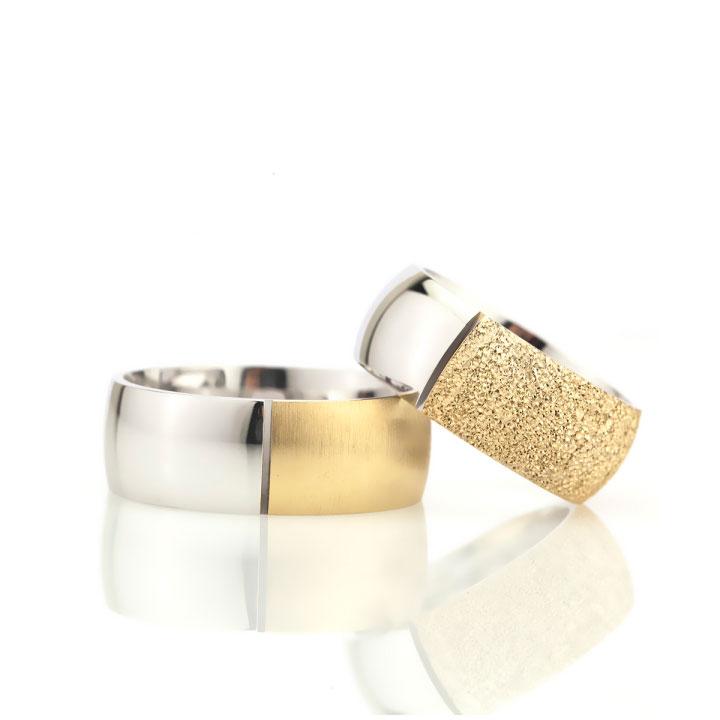 Taçlı Altın Kaplama Bombeli Bay Gümüş Alyans