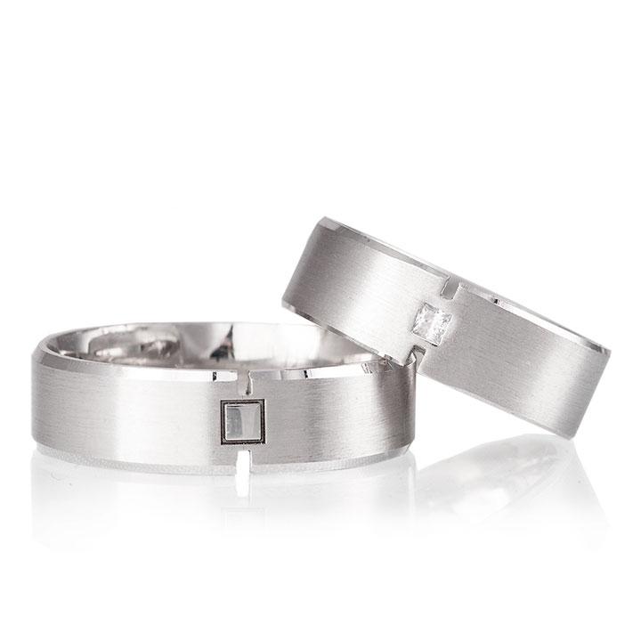 Çizgi Bayan Gümüş Alyans Modeli Nişan Yüzüğü