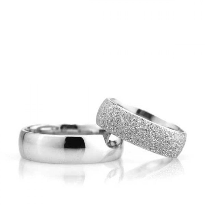 Bombeli 6mm Kumlu Bayan Gümüş Alyans Nişan ve Söz Yüzüğü