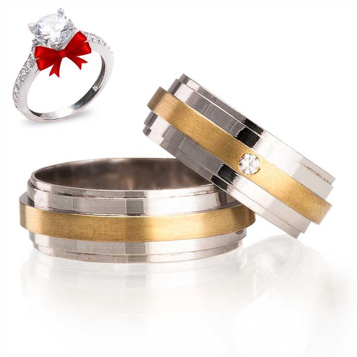 Florya Modeli Gümüş Alyans Çifti