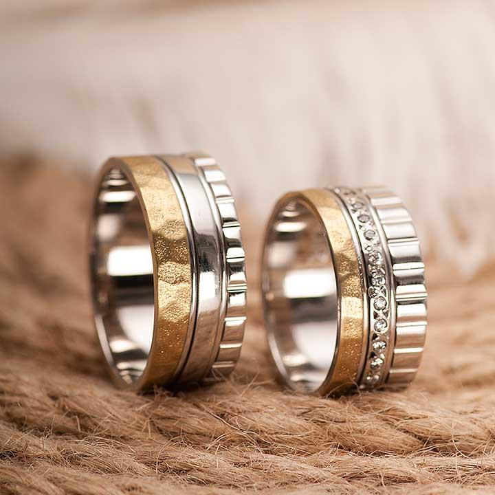Şahzen Gümüş Alyans Modeli Çift Alyans