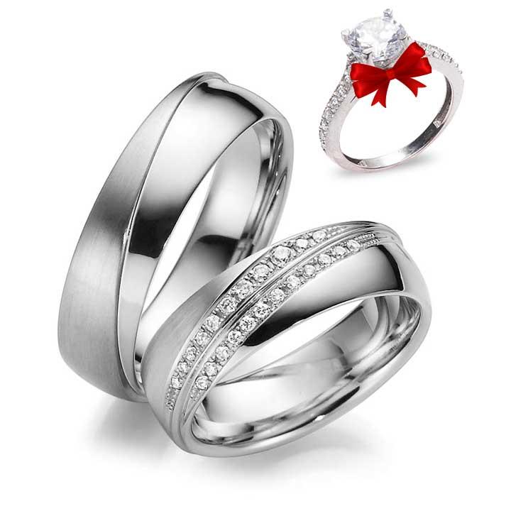 Güneş Modeli Gümüş Alyans Çifti
