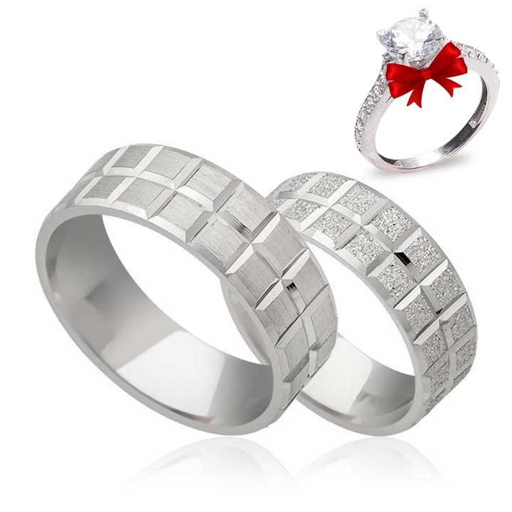 Küp Gümüş Alyans Modeli Nişan ve Söz Yüzüğü