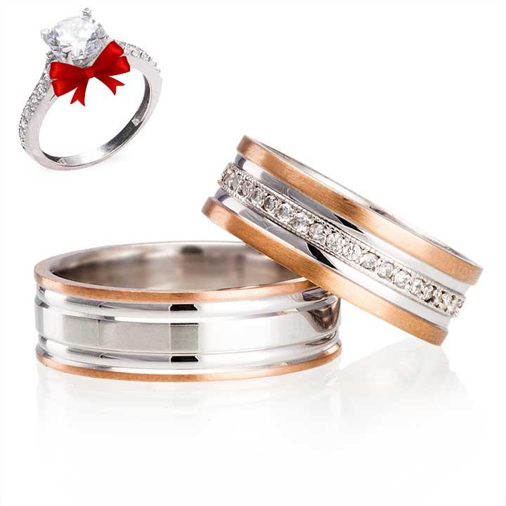 Agena Gümüş Alyans Modeli Söz Yüzüğü