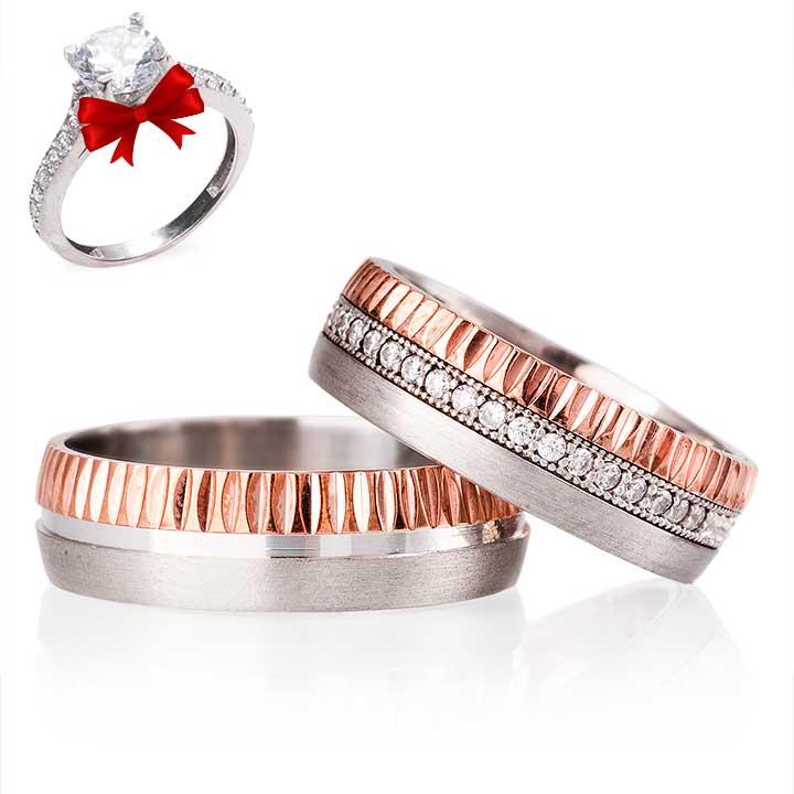 Antares Gümüş Alyans Modeli Nişan Yüzüğü