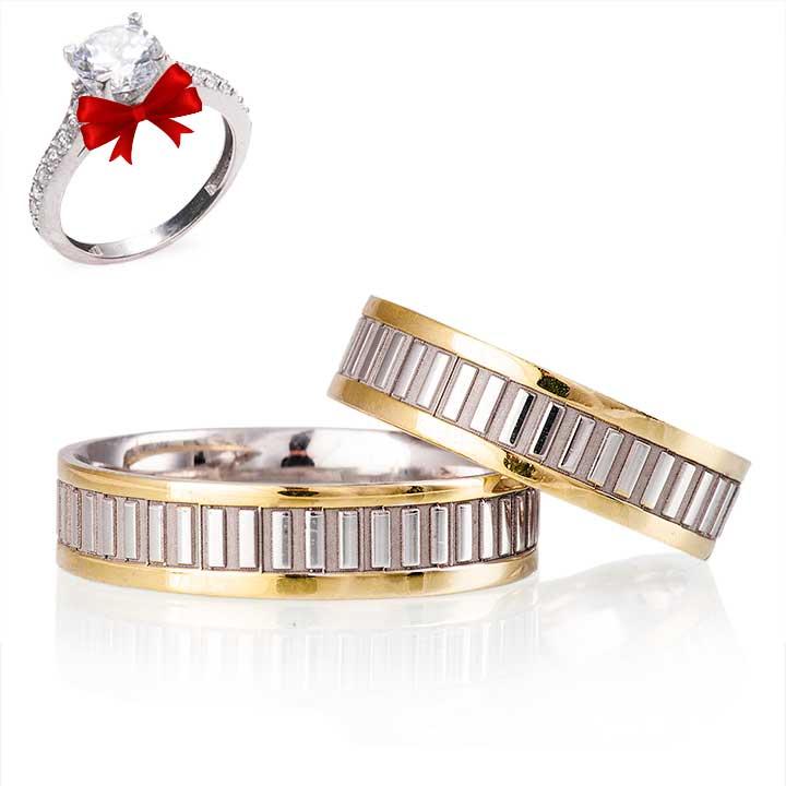 Aleda Modeli Gümüş Alyans Çifti Nişan Yüzüğü