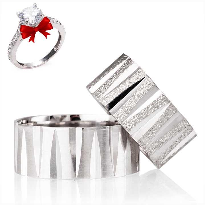 Tiran Gümüş Alyans Modeli Nişan ve Söz Yüzüğü