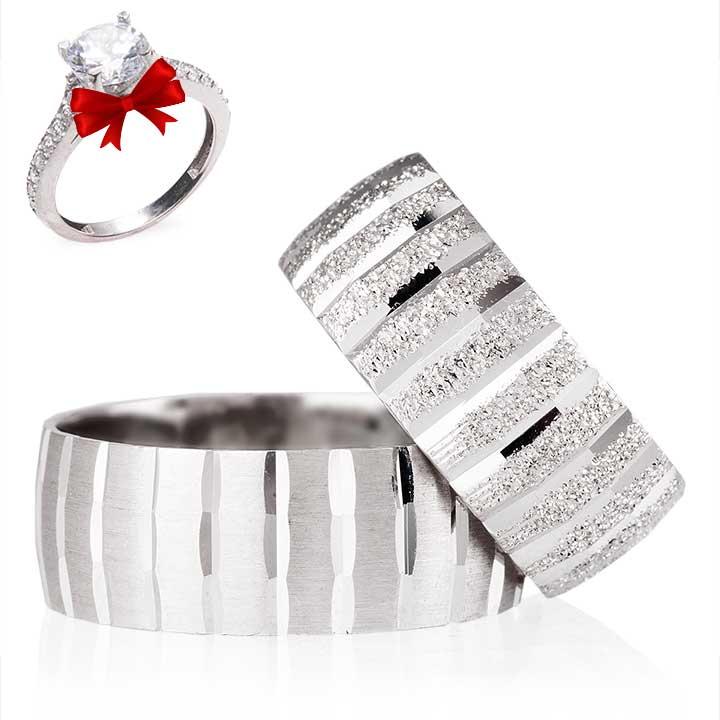 Nişan Yüzüğü Gümüş Alyans Çifti