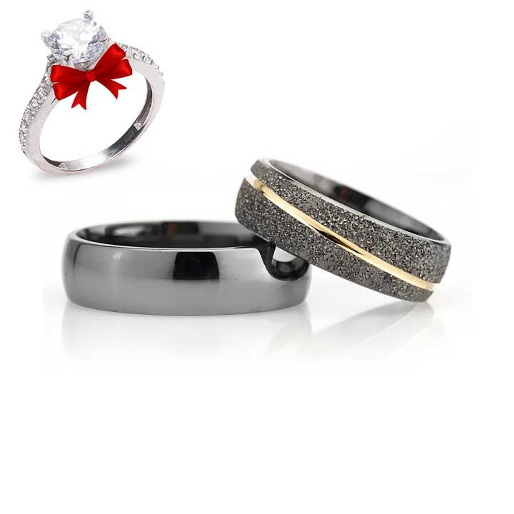 Bombeli Effect Modeli Gümüş Alyans Çifti Nişan Yüzüğü