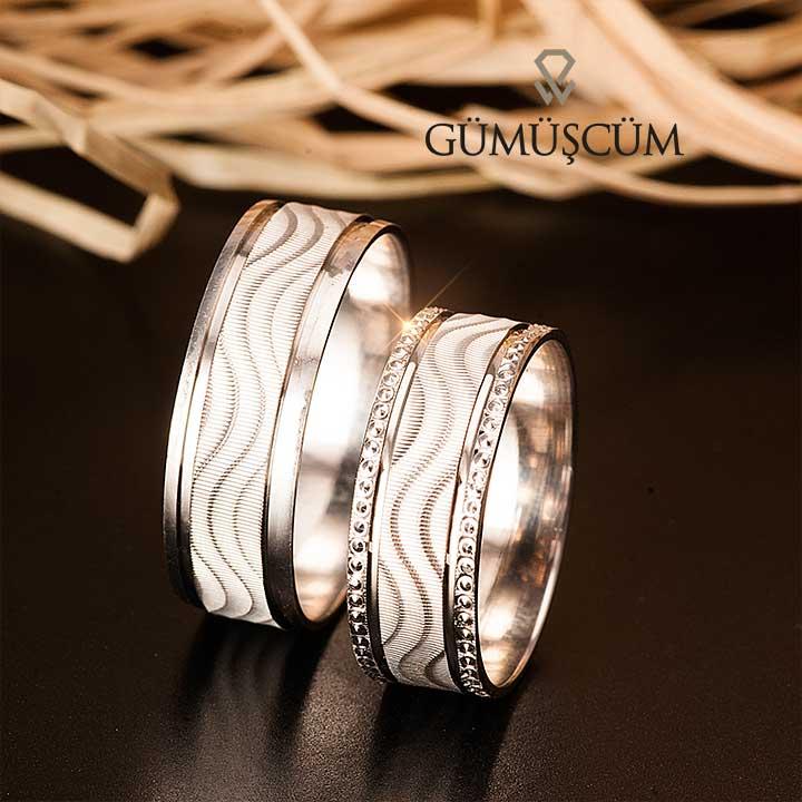 Bella Modeli Gümüş Alyans Bayan Nişan ve Söz Yüzüğü
