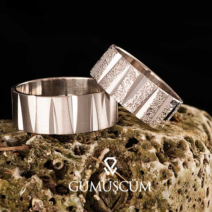 Tiran Bayan Gümüş Alyans Modeli Nişan ve Söz Yüzüğü