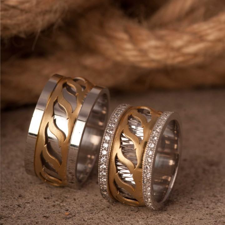 Karayel Gümüş Alyans Modeli Alyans Çifti