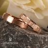 Rose Lazerli  Gümüş Alyans Bayan Nişan ve Söz Yüzüğü