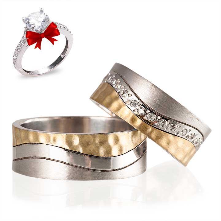 Kardelen Gümüş Alyans Modeli Alyans Çifti