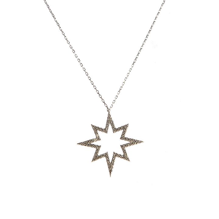 Kutup Yıldızı Gümüş Kolye