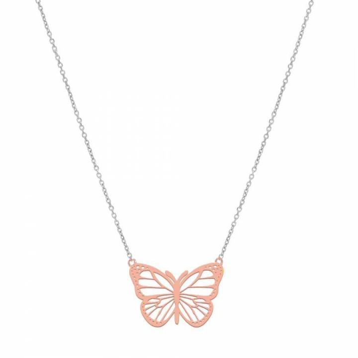 Kelebek Bayan Gümüş Kolye